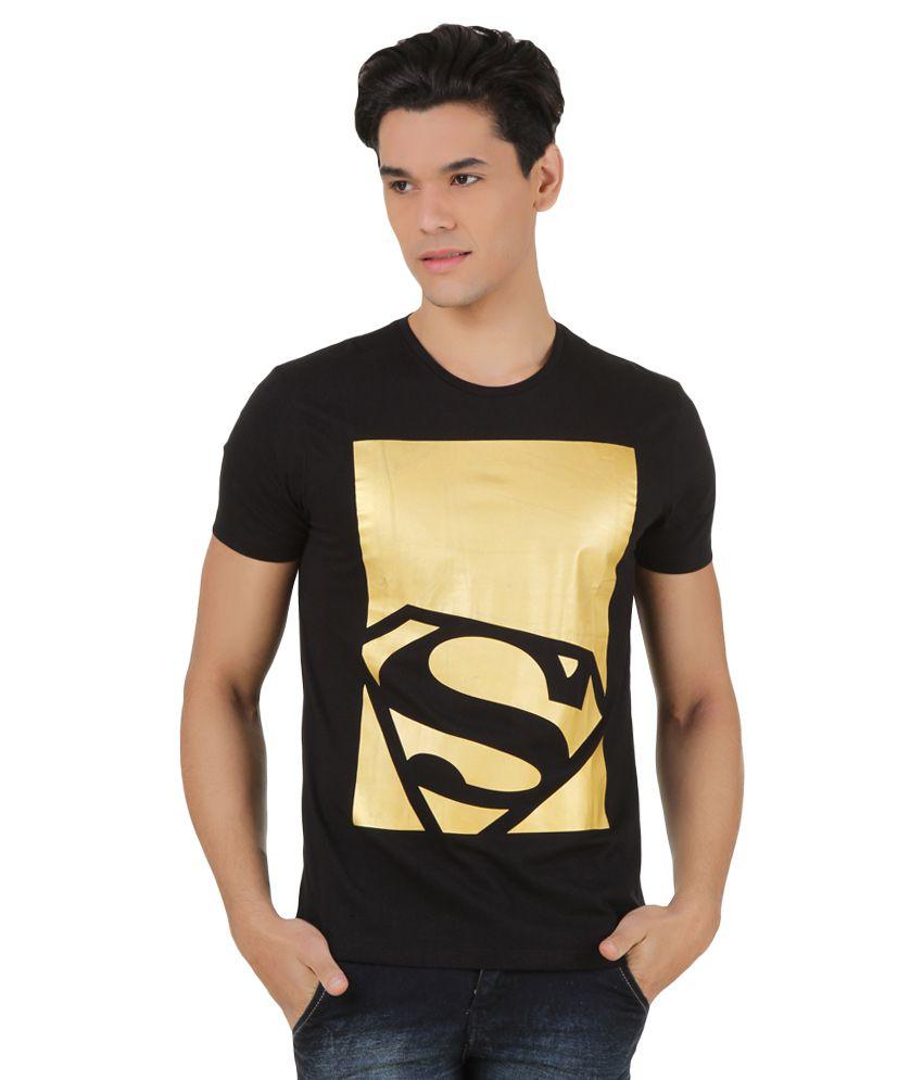 Superman Black Printed T-Shirt