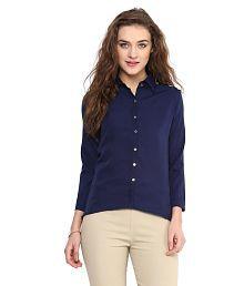 Uptownie Lite Navy Polyester Shirts