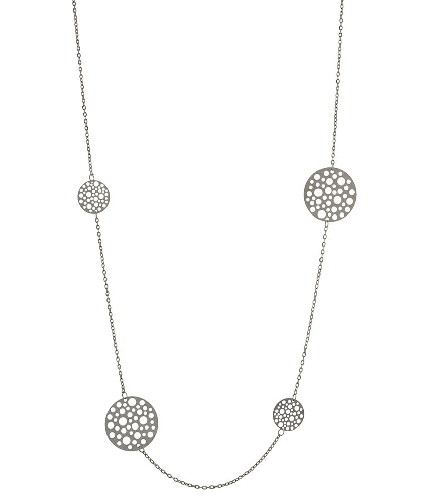 One Stop Fashion Silver Alloy Necklace