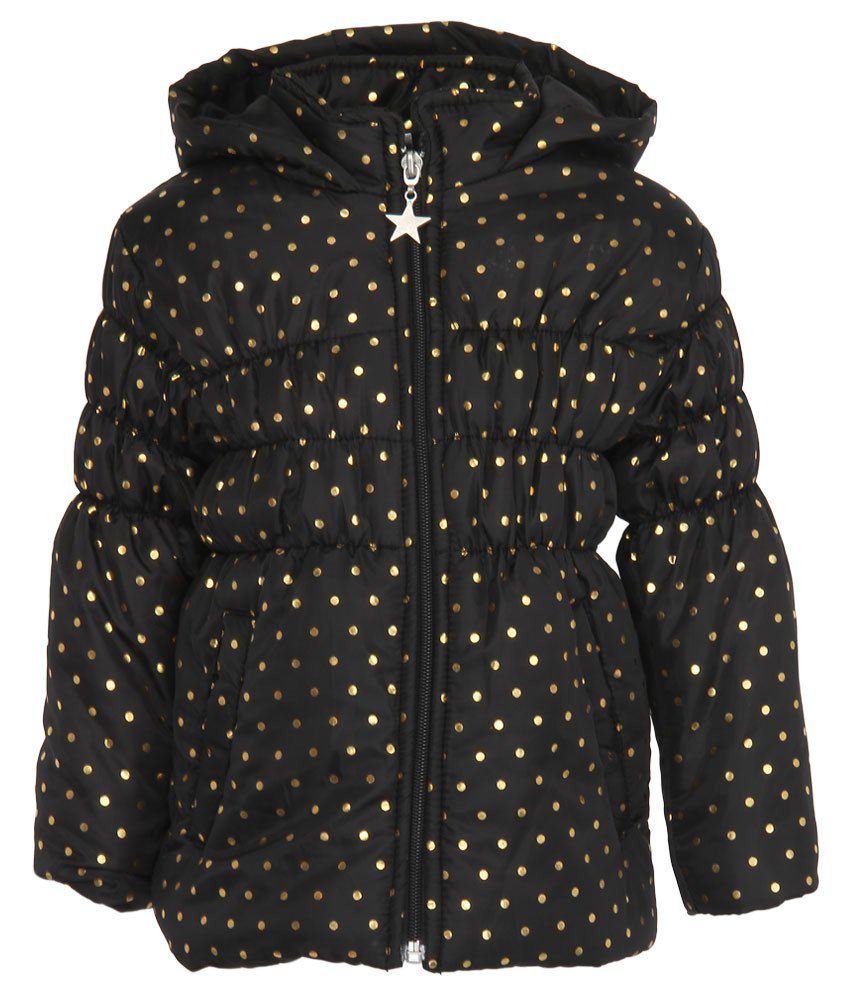 Stop by Shoppers Stop Black & Golden Synthetic Bomber Jacket