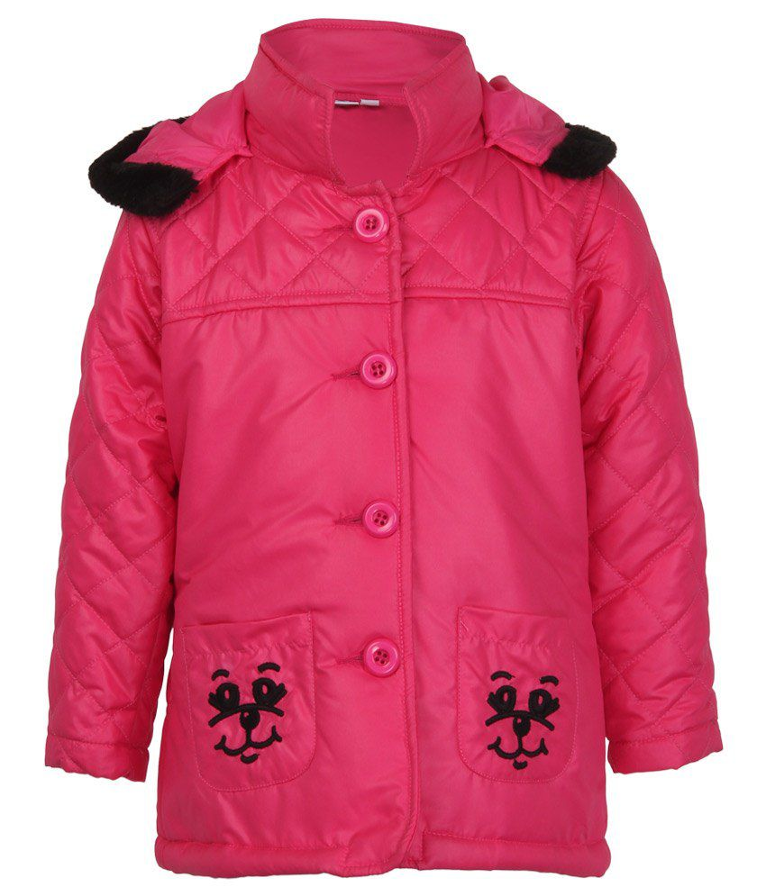 Stop by Shoppers Stop Pink & Black Synthetic Bomber Jacket