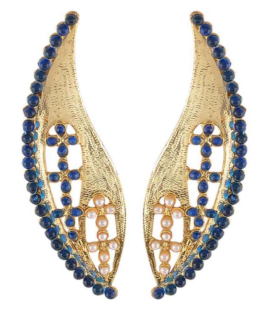 Monjero Blue Pearl Hanging Earrings