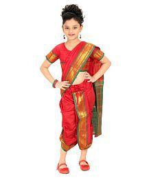 Bhartiya Paridhan Red Saree For Girls