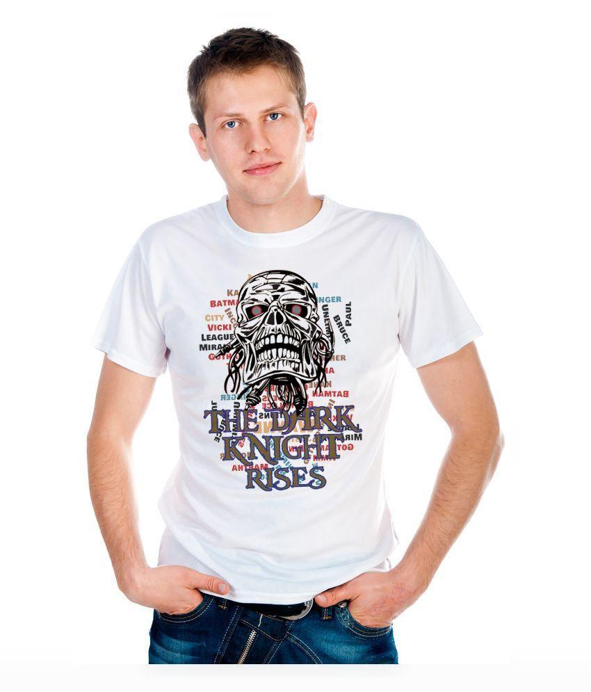 6Thcross White Round T Shirts