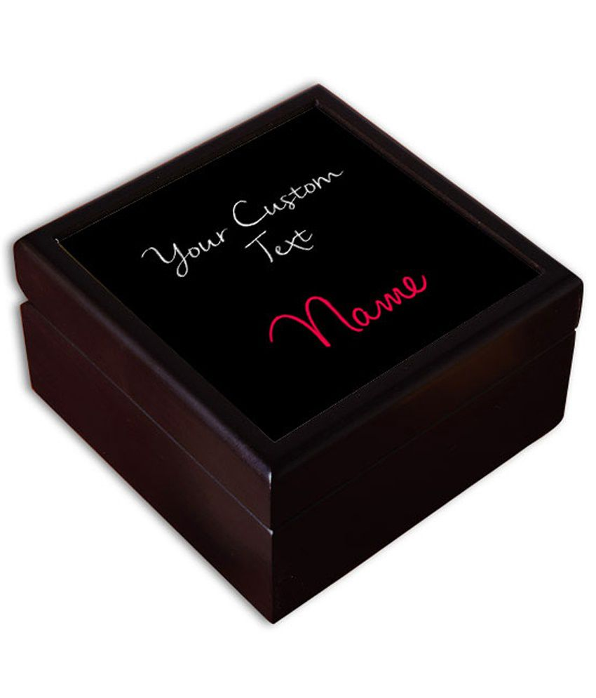 Perfico Brown Wooden Quote Personalised Jewellery Box