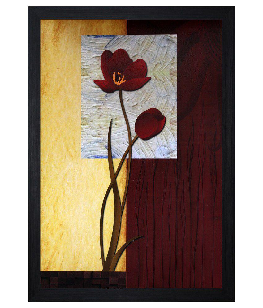 SAF Wooden Floral Painting