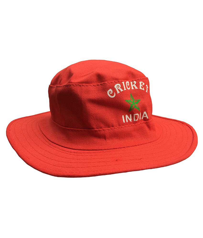 a332e27903e Jack   Ginni Red Colour Cricket Round Cap - Pack Of 1  Buy Online at Best  Price on Snapdeal