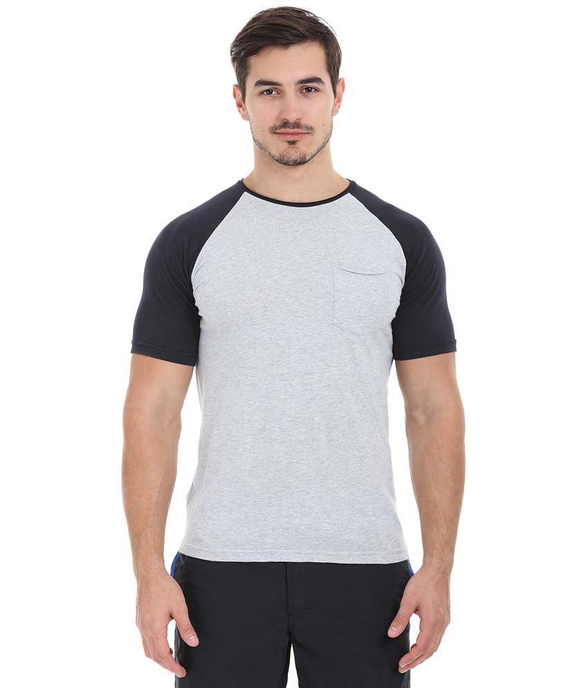 Zobello Grey Round T Shirts