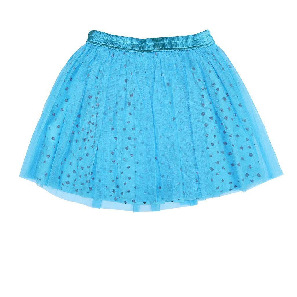 Aristot Turquoise 100% Cotton Skirts for kids girls