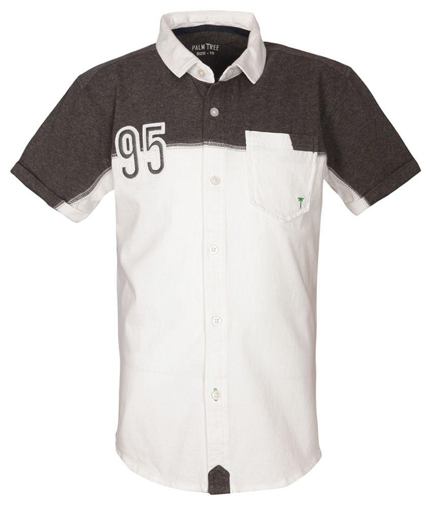 Gini & Jony White Half Sleeves Shirt