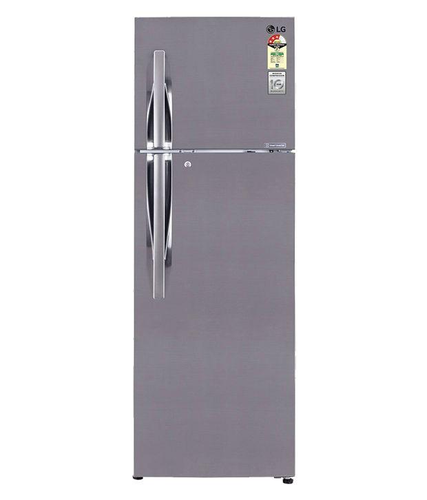 LG 310 LTR 3 Star GL-M322RPZL/I322RPZL Frost Free Refrigerator - Shiny steel
