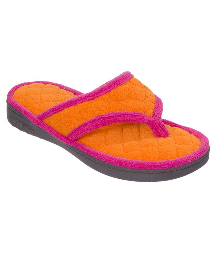 Dearfoams Orange Slippers & Flip Flops