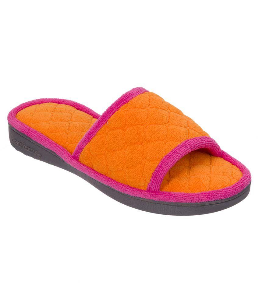 Dearfoams Orange Slippers & Flip Flops