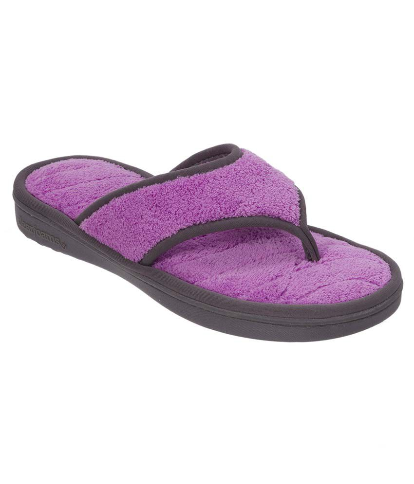 Dearfoams Purple Slippers & Flip Flops