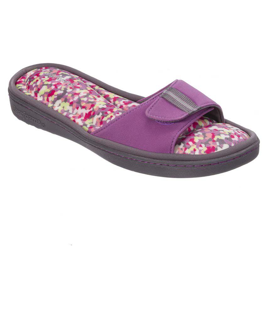Dearfoams Purple Slippers & Flip Flops