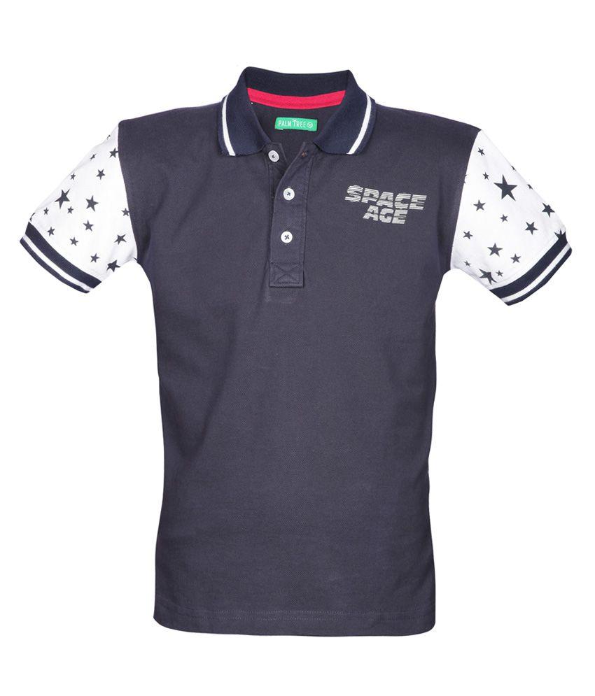 Gini & Jony Blue Half Sleeves Polo T Shirts