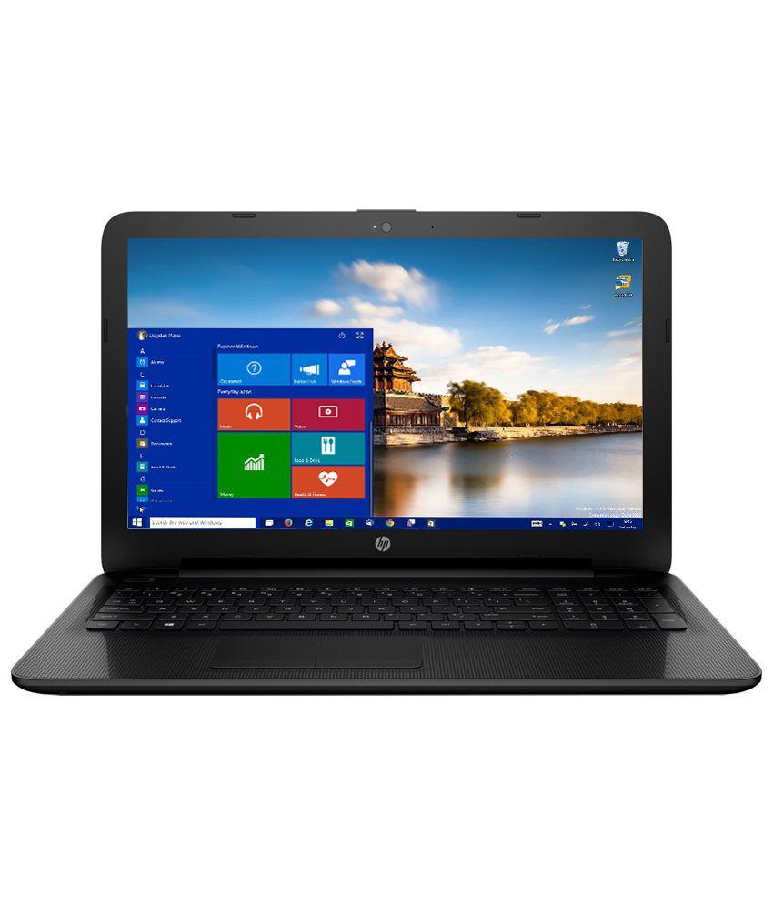 HP 15-AC168TU Notebook (P4Y39PA) (Intel Pentium- 4GB RAM- 500GB HDD- 39.62 cm(15.6)- Windows 10) (Black)