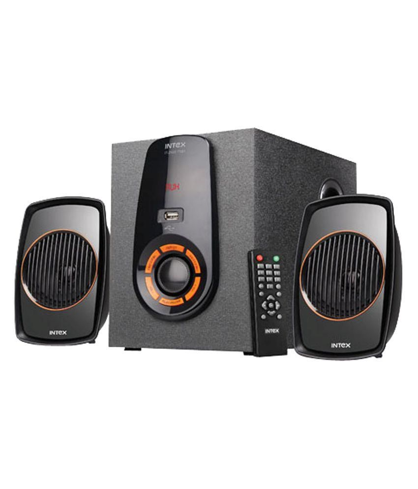 Intex IT- 2500 FMU 2.1 Multimedia Speakers - Black