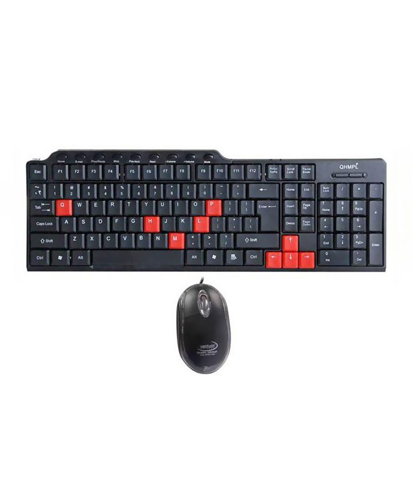 Quantum Quantum QHM-8810 USB Keyboard & Mouse Combo With Wire