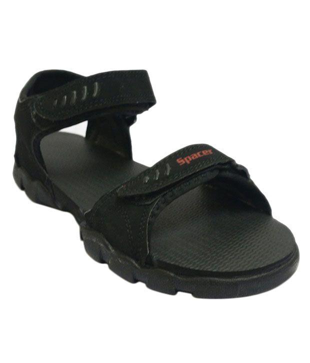 0e86b6e7a67873 Spacer Black Sandals Price in India- Buy Spacer Black Sandals Online at  Snapdeal