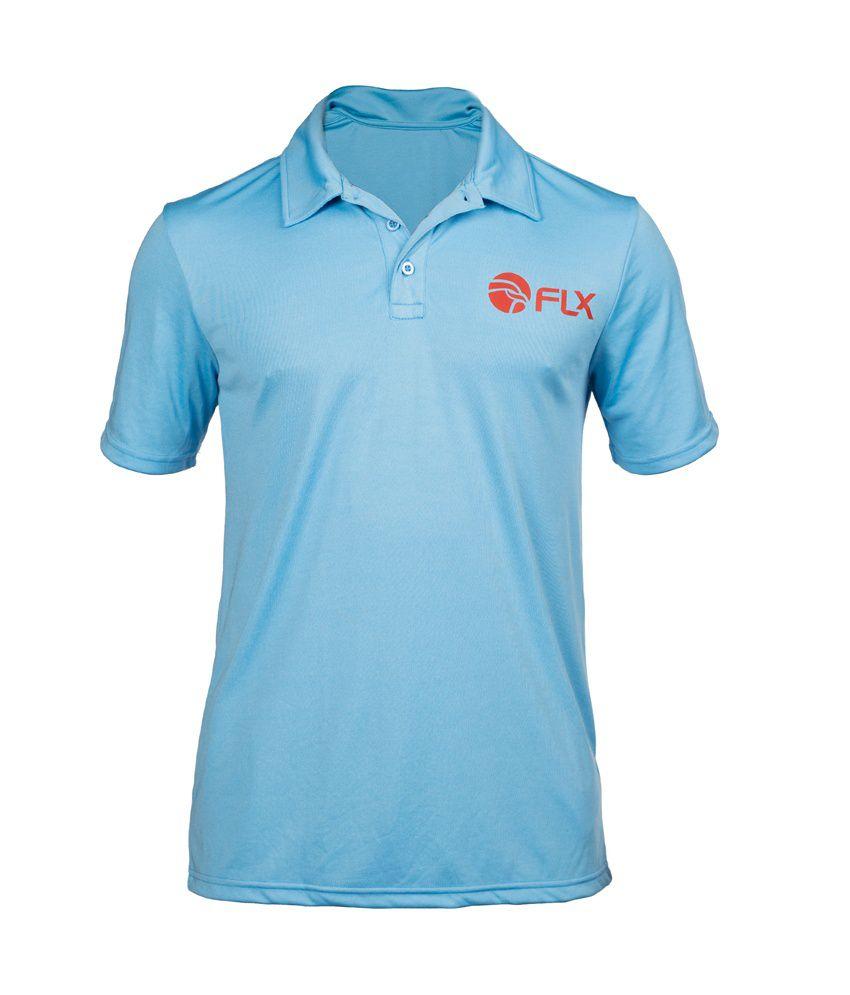 FLX Polo Cricket T-shirt By Decathlon