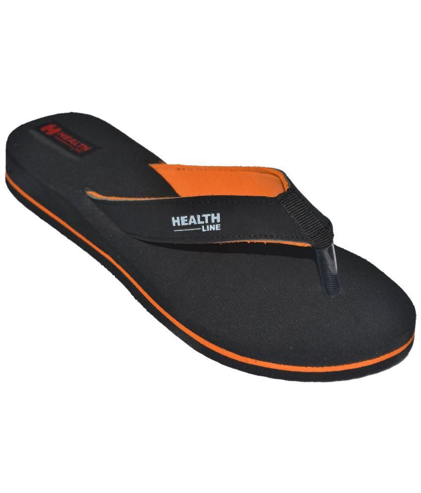 Health Line Orange Slippers & Flip Flops