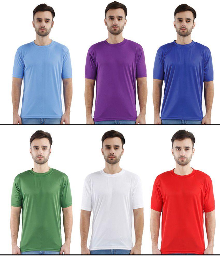 Krazy Katz Multi Round T Shirts Pack of 6