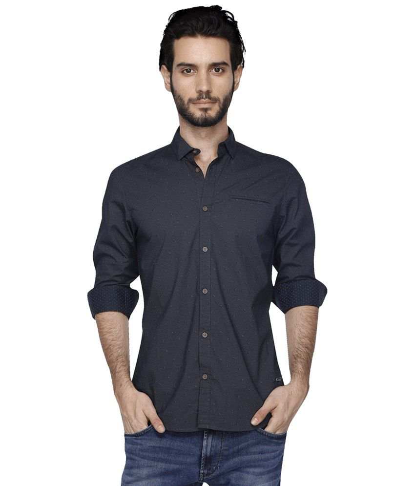 Being human black casuals slim fit shirts buy being for Being human t shirts buy online india