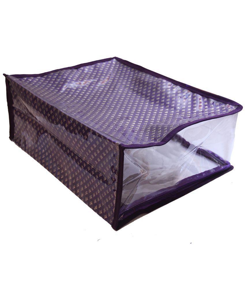 Belomoda Purple Saree Cover - 2 Pieces