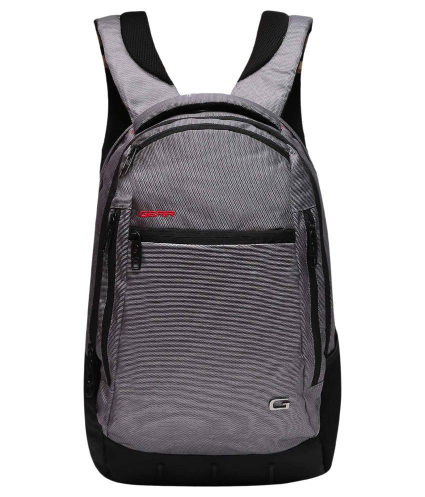 Gear Grey Polyester Laptop Bag