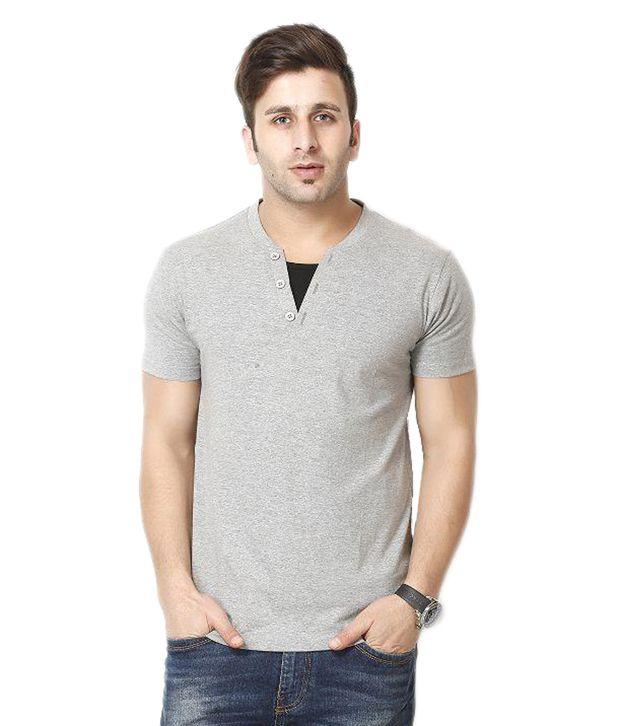 Gritstones Grey Henley T Shirts