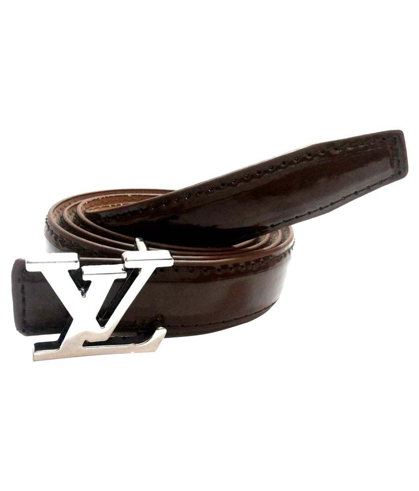Mode Brown Leather Belt For Men