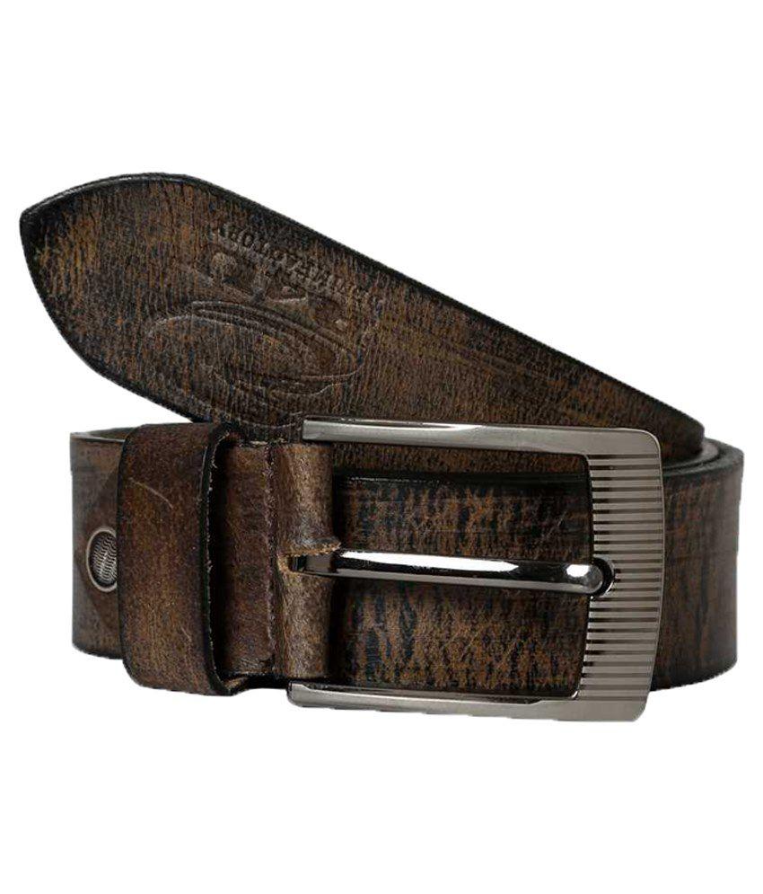 R4U Denim Factory Brown Leather Belt For Men