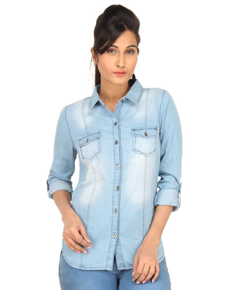 Eimoie Blue Denim Shirts