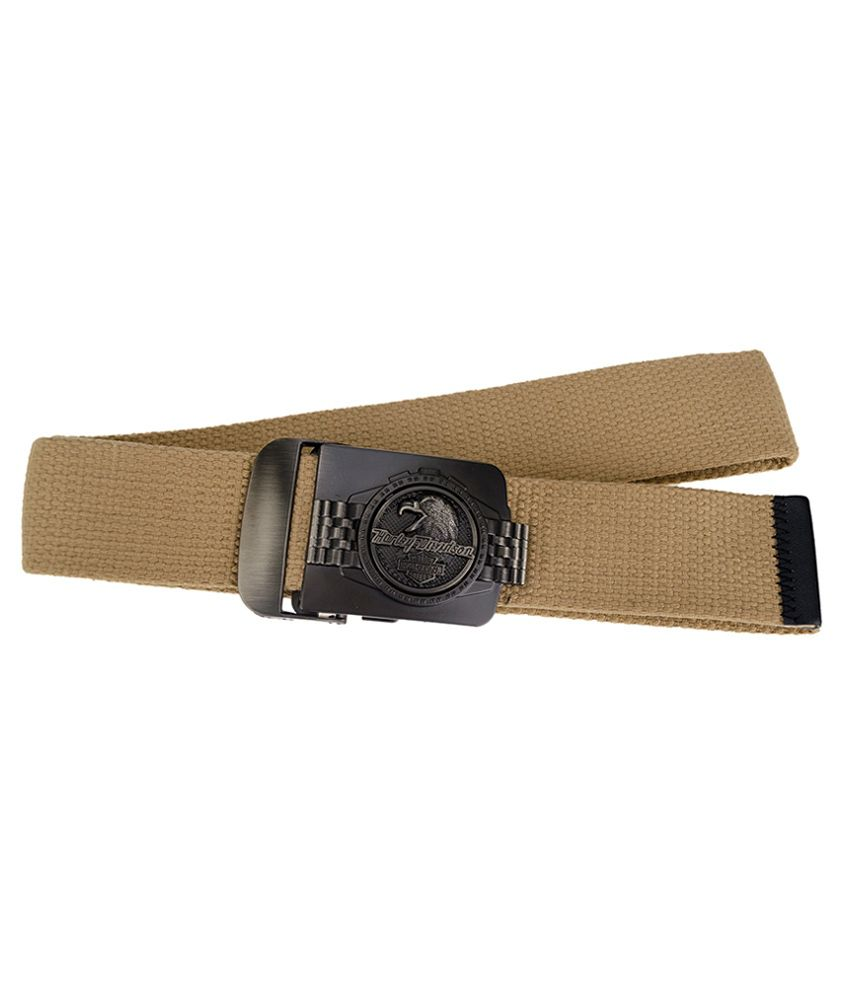Genious Beige Canvas Casual Belt for Men