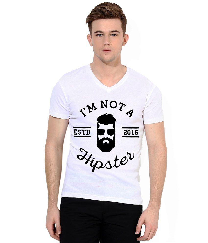 Mundus Vici White V-Neck T Shirts
