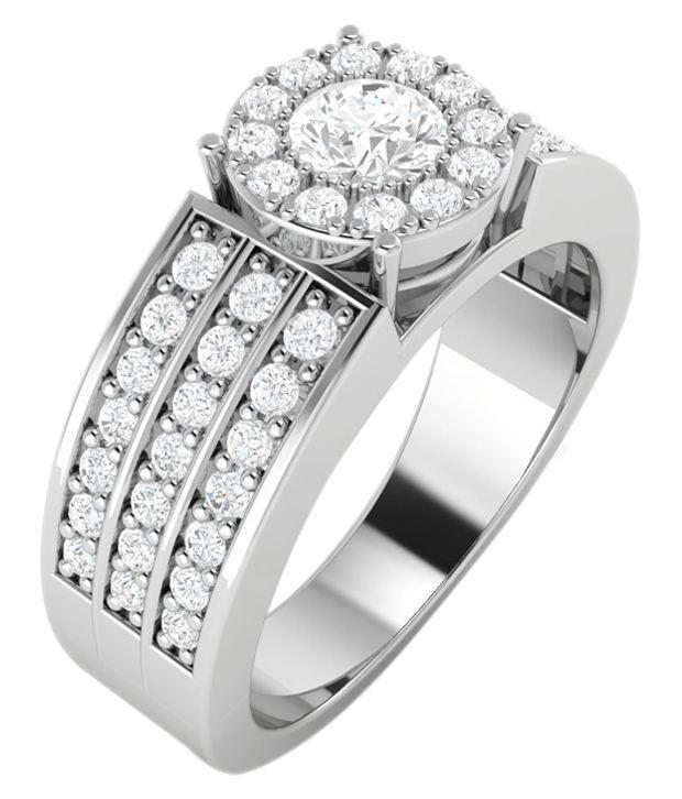 Vijisan 92.5 Sterling Silver Round Cubic Zirconia Ring