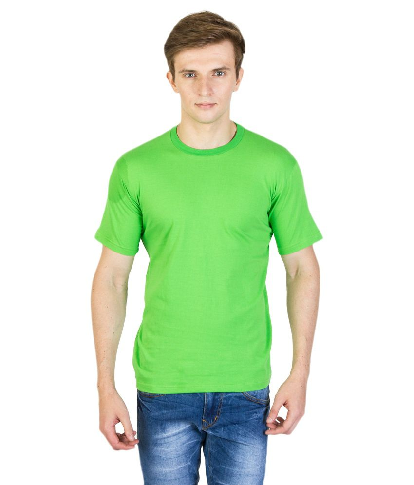 Barsoon Green Round T Shirts