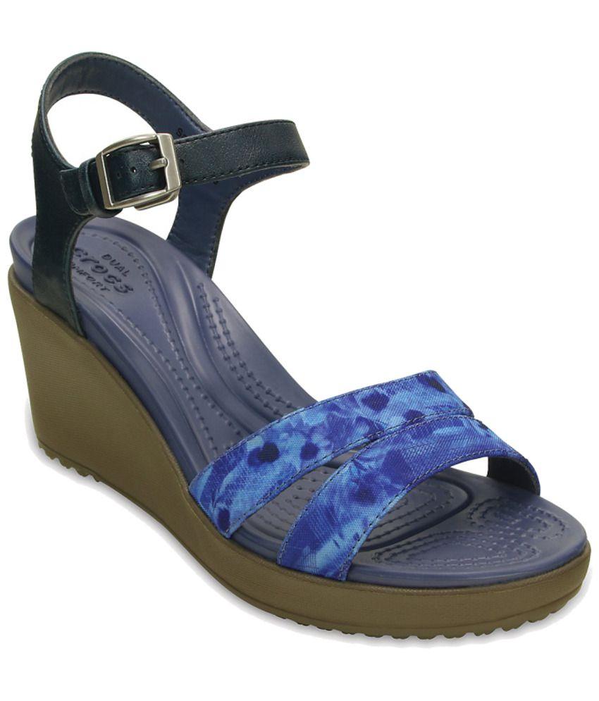 Crocs Blue Heeled Slip-on & Pump Standard Fit