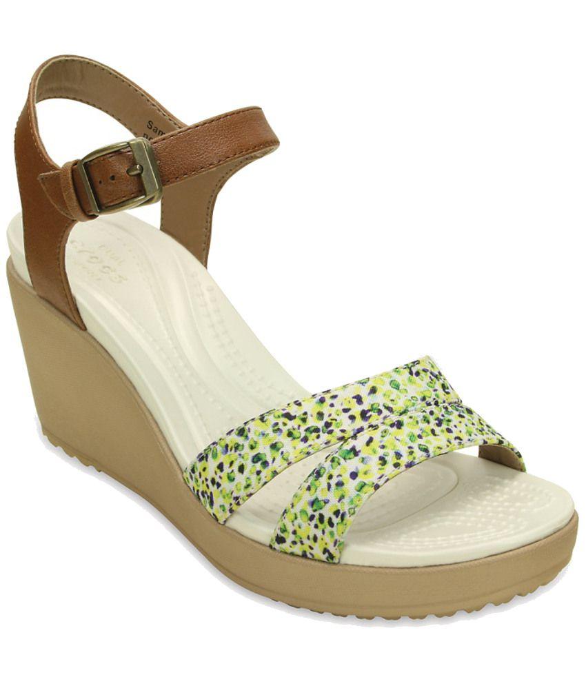 Crocs Brown Heeled Slip-on & Pump Standard Fit