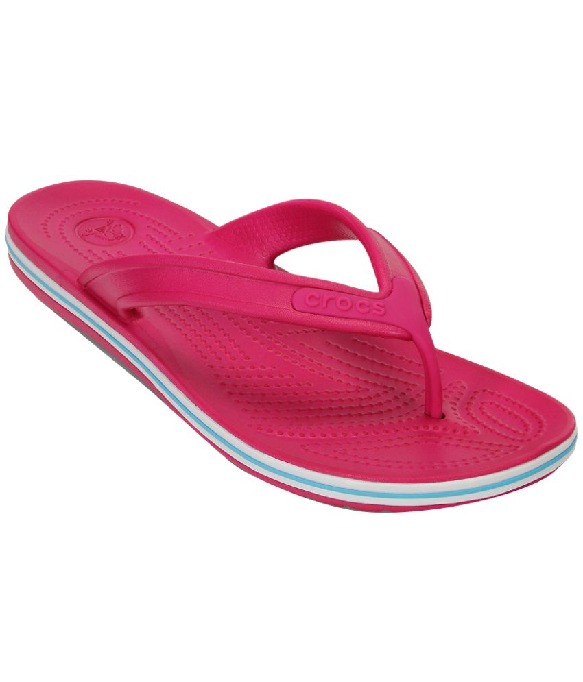 Crocs Pink Slippers & Flip Flops Relaxed Fit