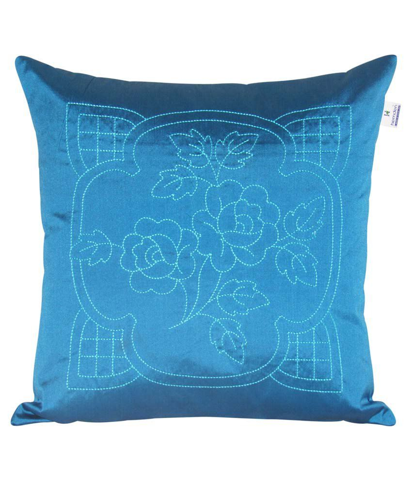 Hemden Blue Polyester Cushion Cover