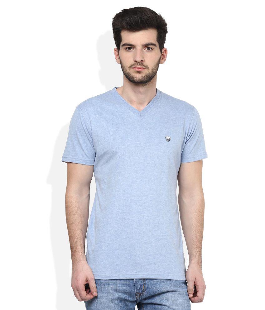 John Players Blue V-Neck T Shirt