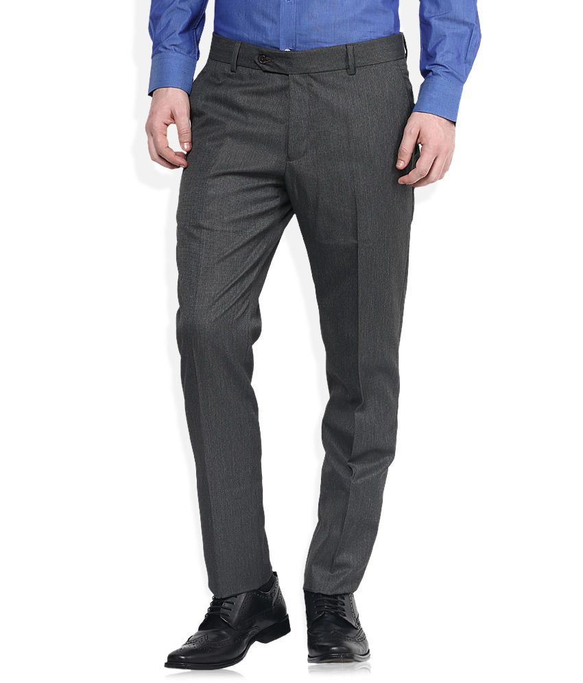 John Players Grey Slim Fit Trousers