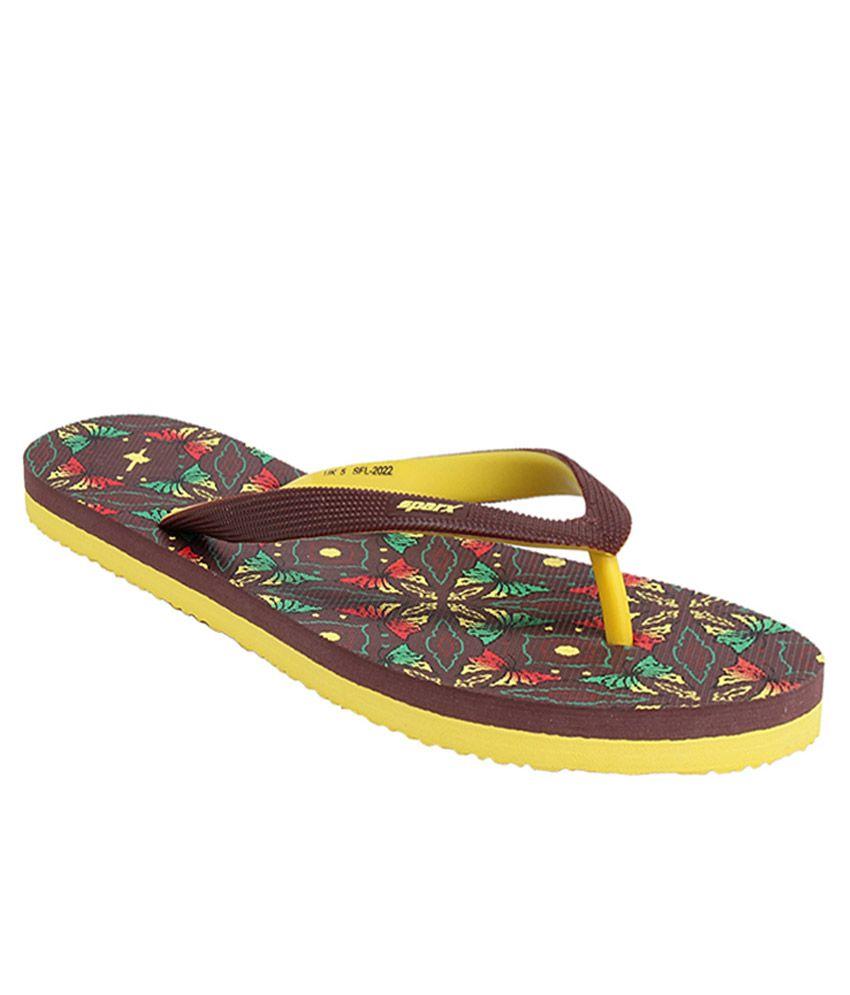 Sparx Brown Slippers & Flip Flops