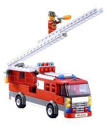 Planet of Toys Multicolor Fire Rescue Series Building Blocks Construction Set