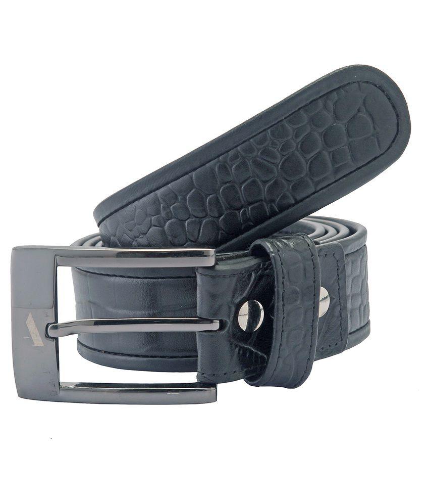 Adamis Black Formal Belt for Men