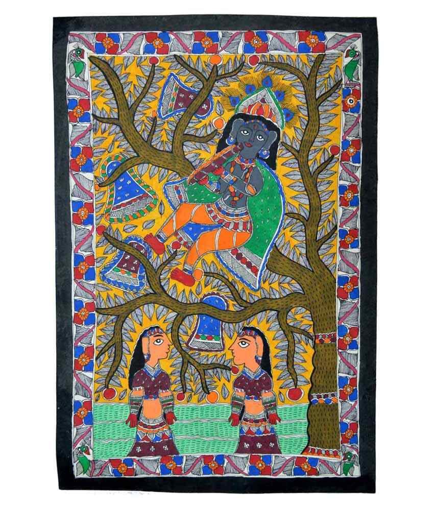 Craftuno Multicolour Ras Lila Painting