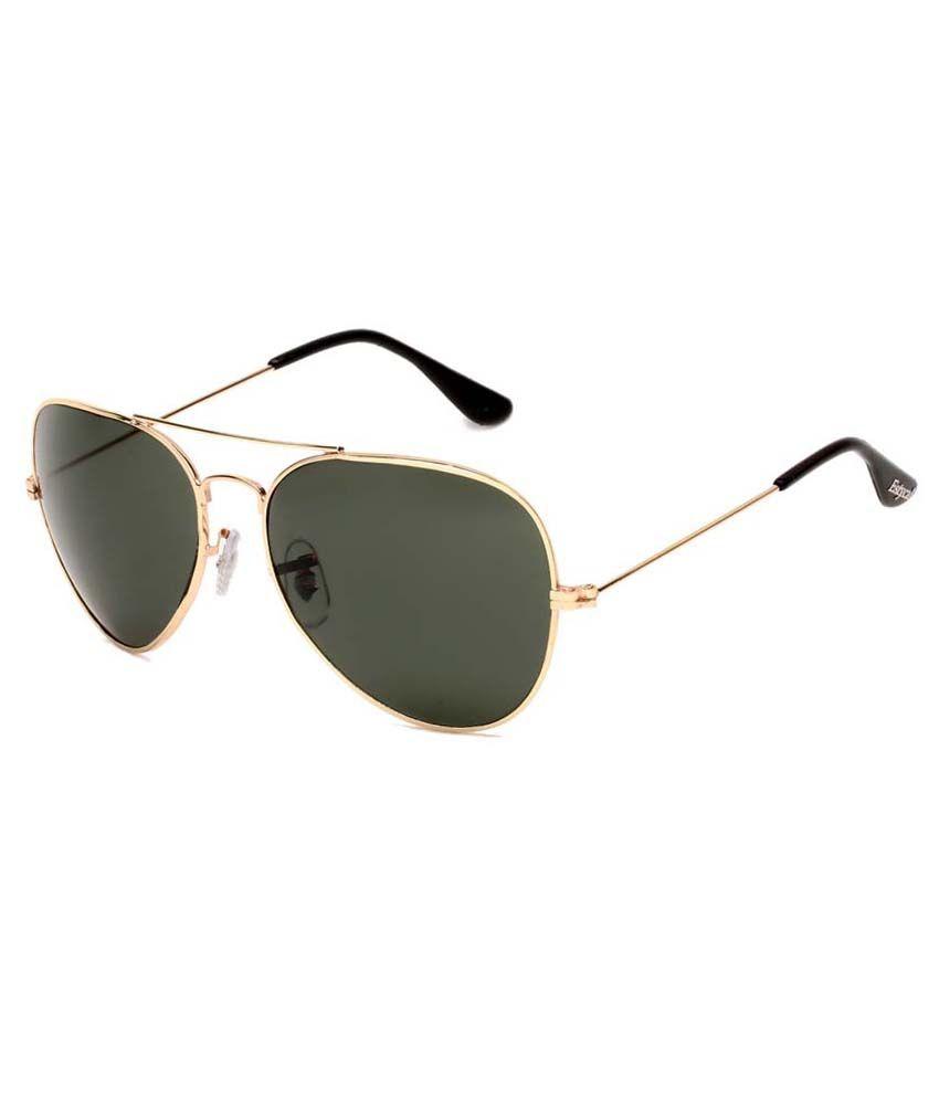 Estycal Green Aviator Sunglasses