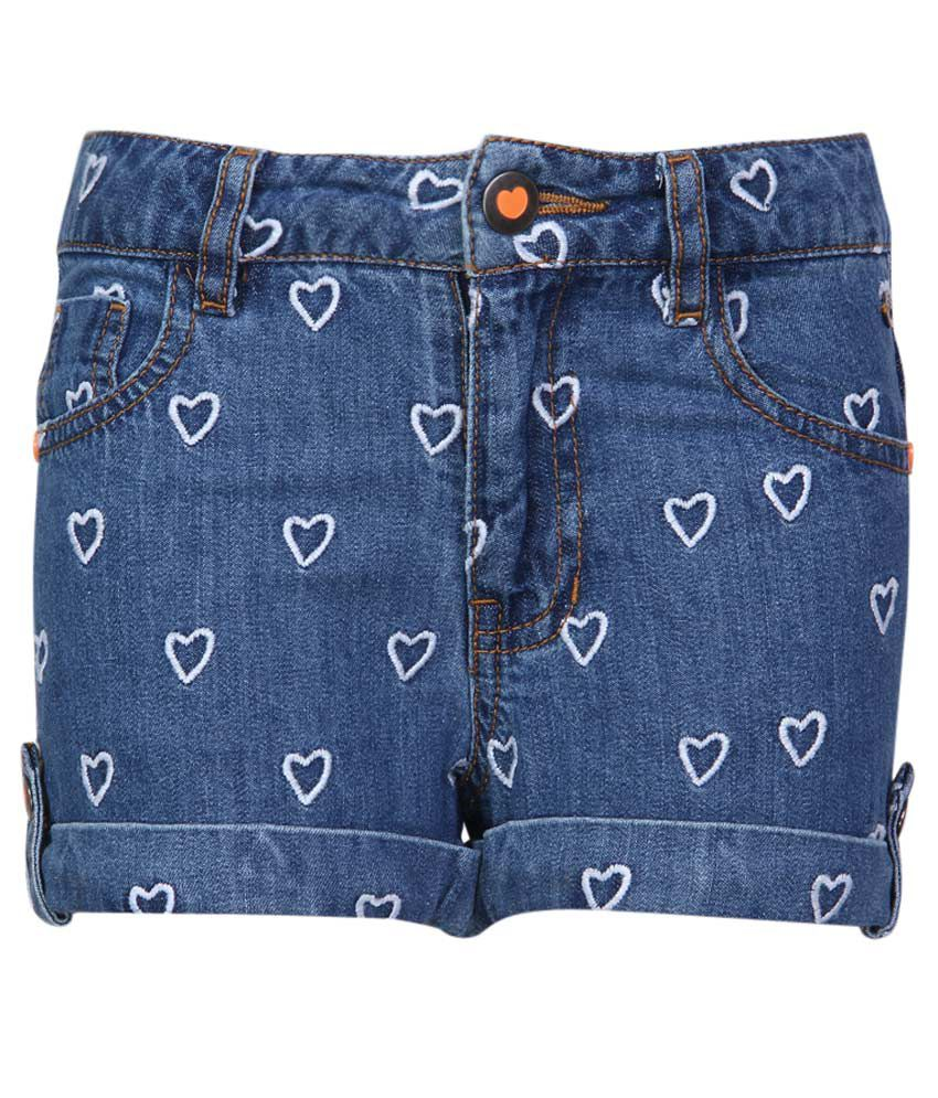 FS MiniKlub Blue Cotton Shorts